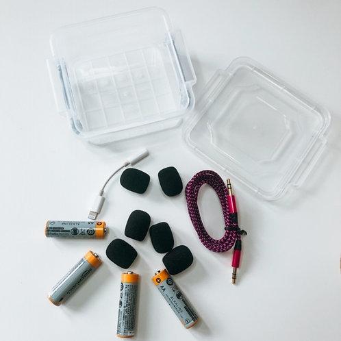 Instructor Essentials Box + 1 packet Microphone Windshields