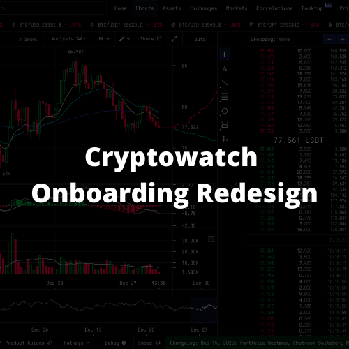 Cryptowatch User Onboarding Redesign