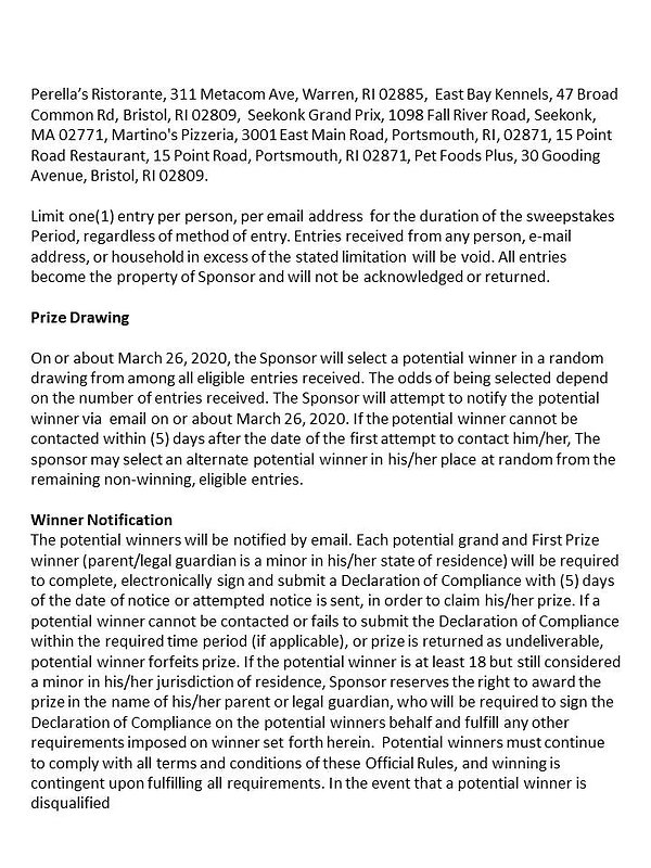 Contest Rules Page 2 Opening Day at Fenw