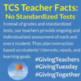 no standardized tests