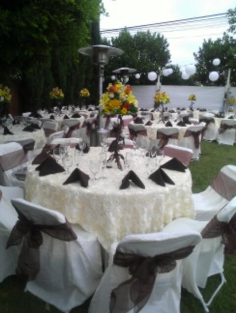 White and Brown Table Setting