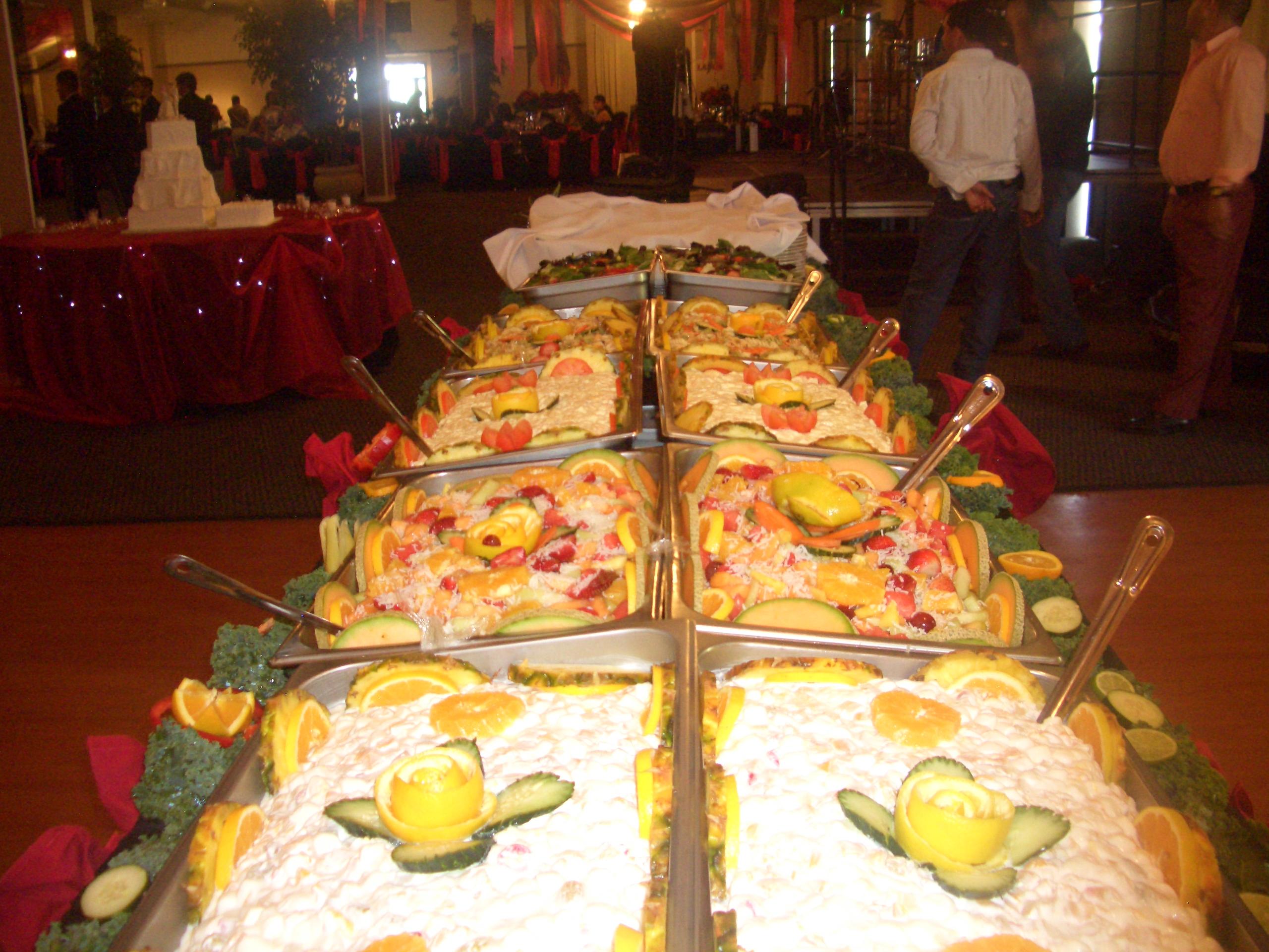 Salads Buffet Table Setting