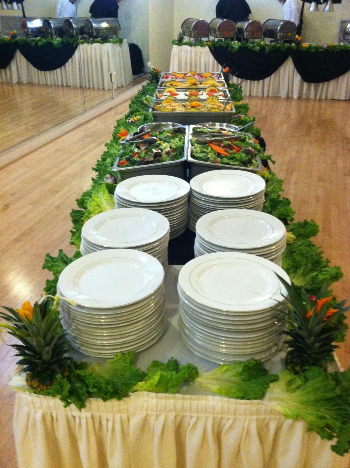 Salads Buffet Setting