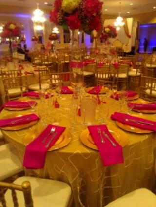 Gold and Red Table Setting