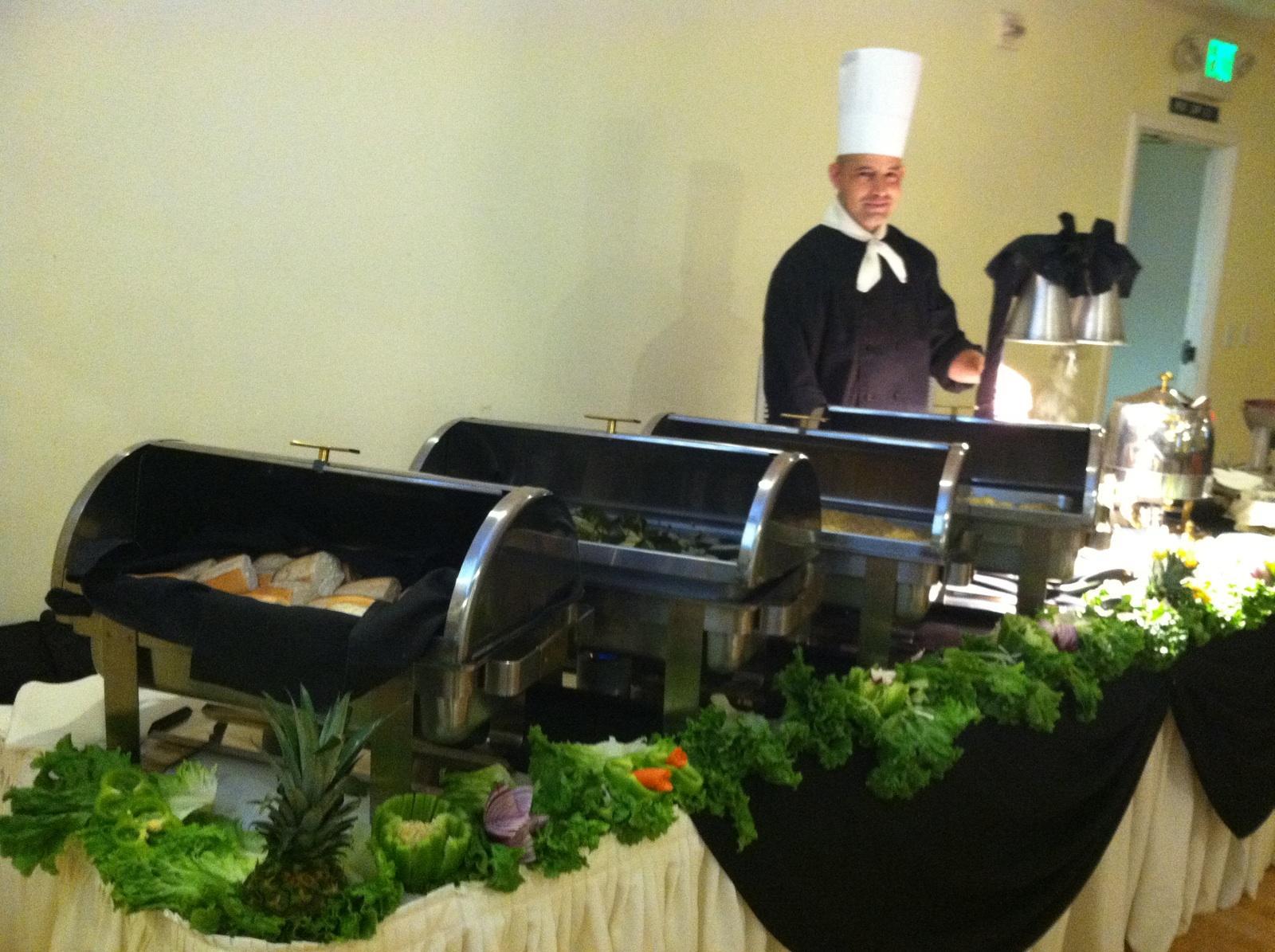 Hot Food Buffet Table Setting