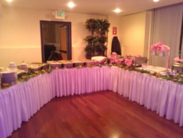 Buffet Table Setting
