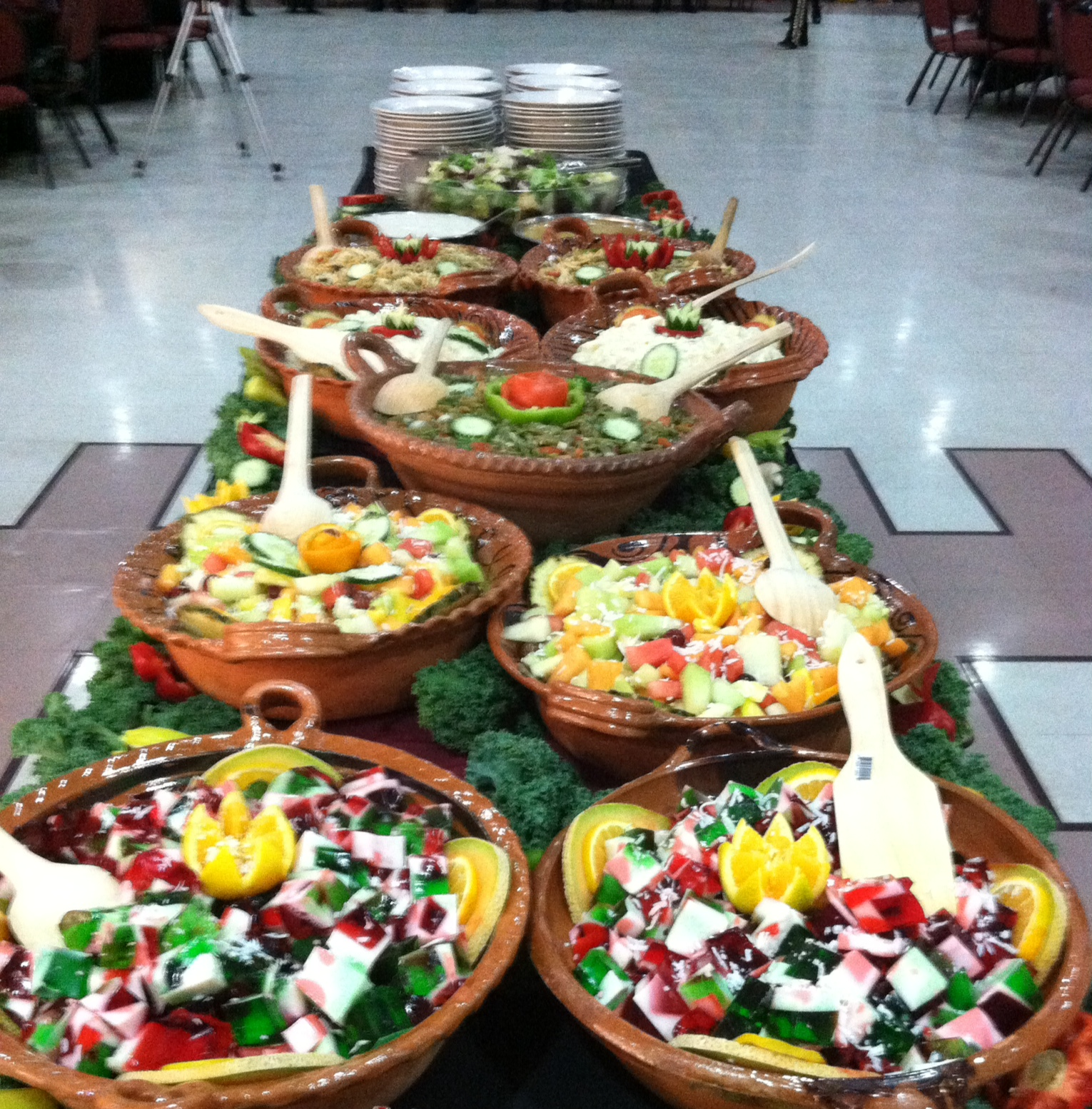Mexican Theme Salad Buffet Setting