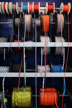 Ropes, sheets, lines, halyards... float, sink, stretch, thick, thin. Talk to us ad we'll help you find the right one.