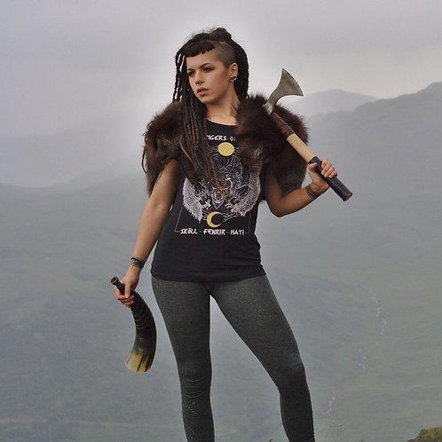 Fenrir, Skoll, Hati - Bringers of Doom Fitted T-Shirts