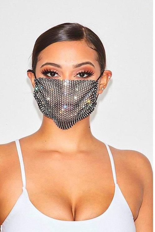 Rhinestone Face Mask
