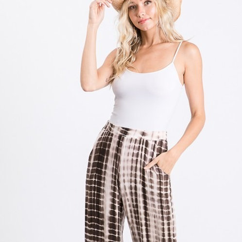 SIDE TIE RELAXED FIT TIE DYE CASUAL PANT