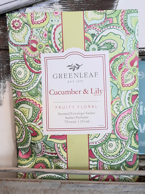 Greenleaf Large Sachet Cucumber Lily
