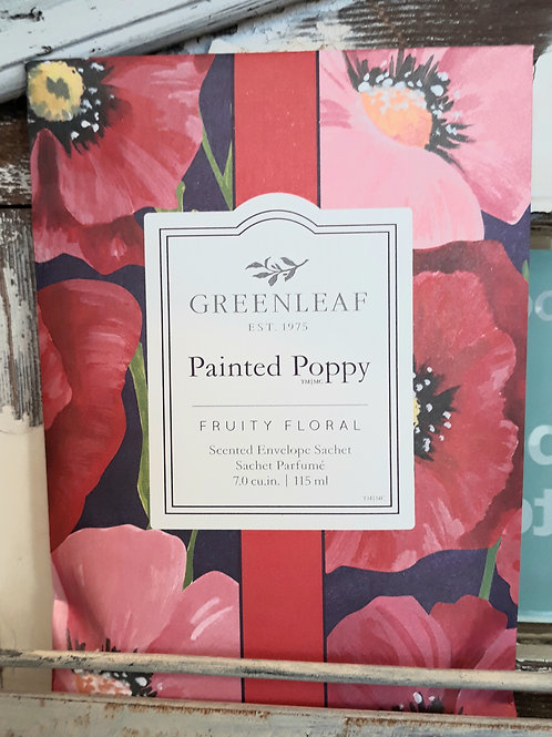 Greenleaf Large Sachet Painted Poppy