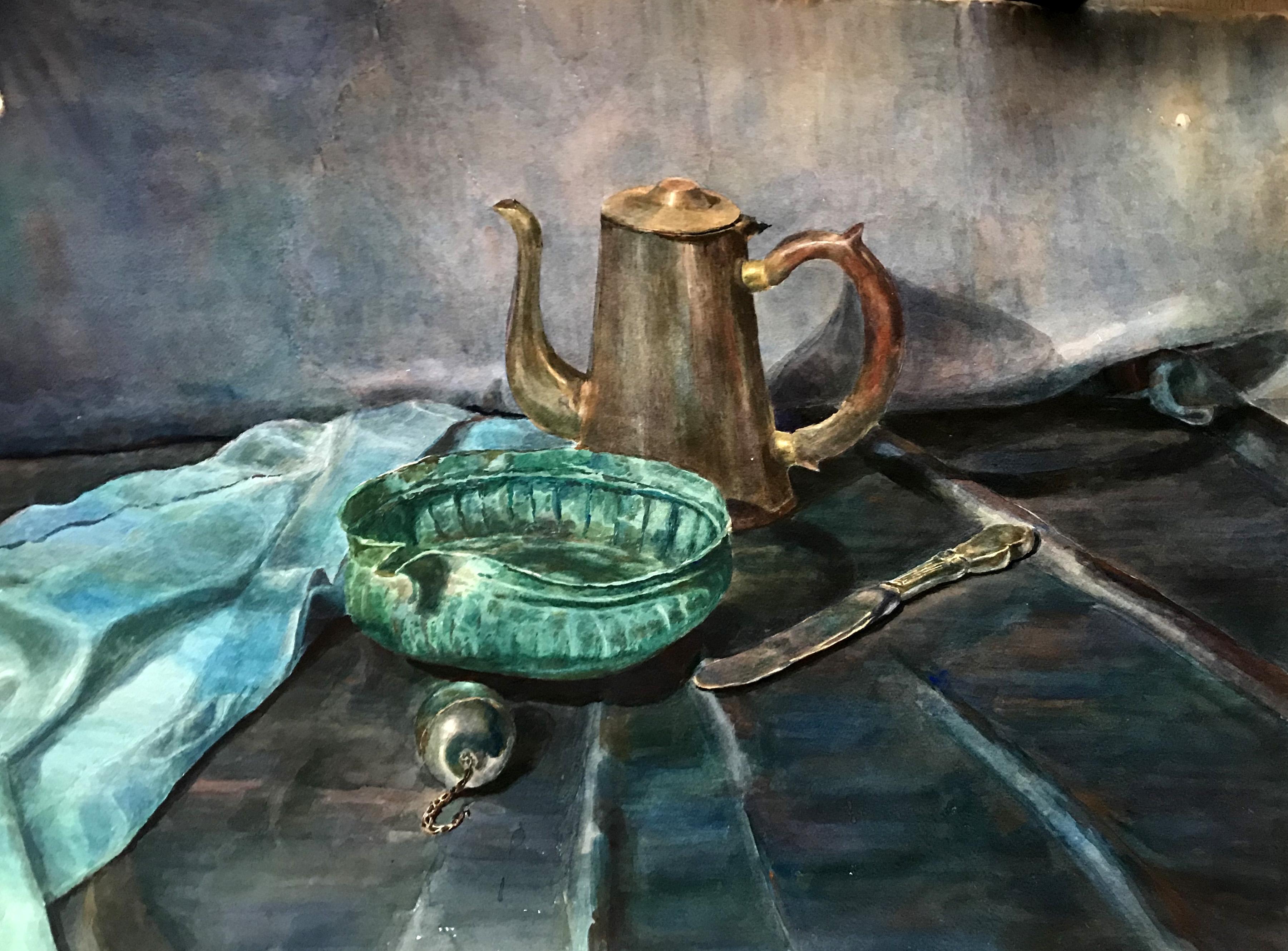 Turquoise still-life