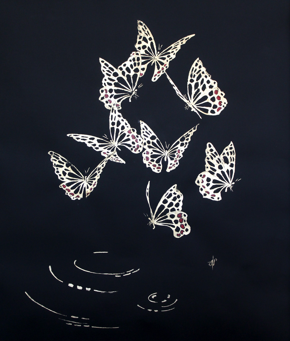 Golden butterflies