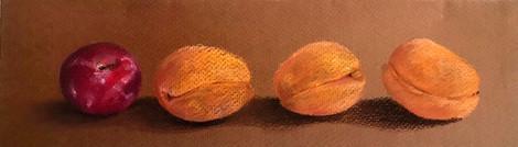 Peaches and plum