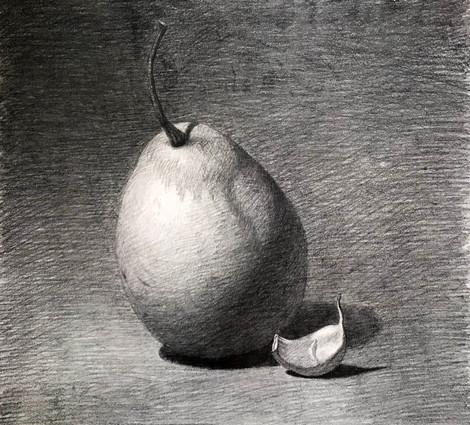 Pear and garlic