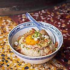 Steamed Plum Pork over Rice 梅汁肉末飯