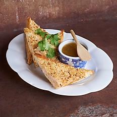 Sesame Shrimp Toast  蝦多士