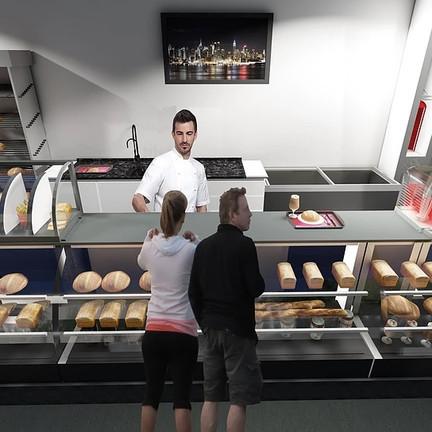 Projeto de espaço móvel para preparo de alimentos.