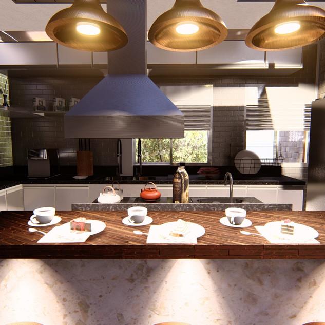Cozinha - Residencia Ilha Bela
