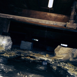 Crawlspace Inspection. Standing water under house.