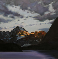 Mt Gould Glowing  24x24  SOLD