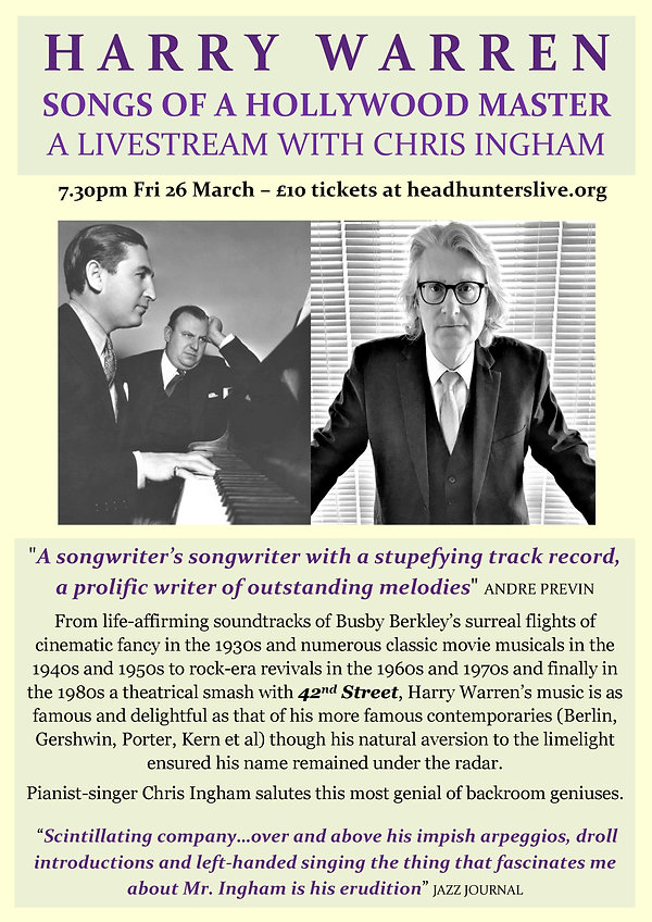 Harry Warren Streaming Flyer - with date