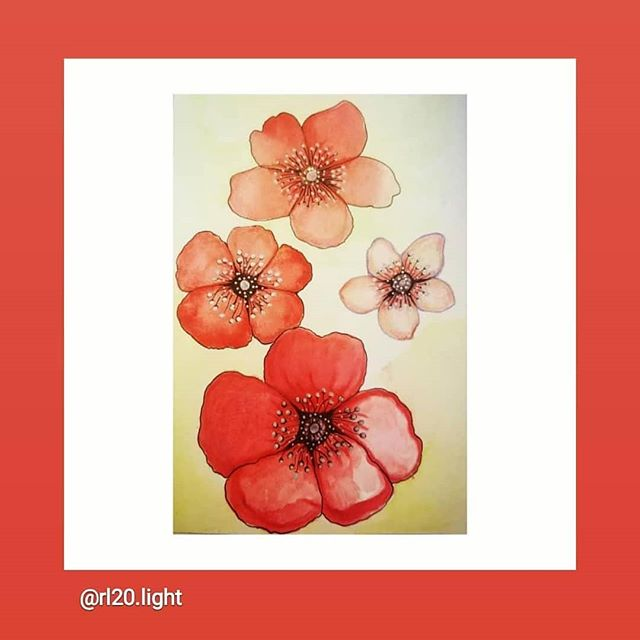 Title: Bloom (Red Frame) Medium: Waterco