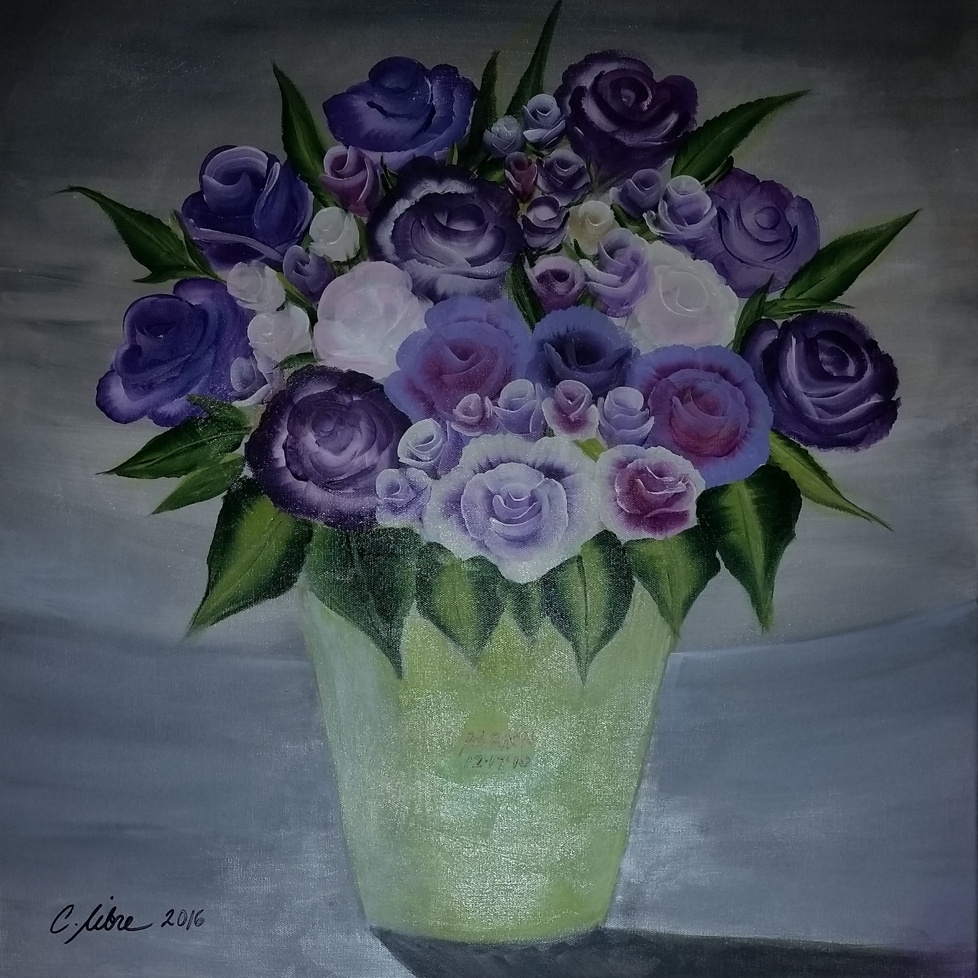 Purple & White Roses