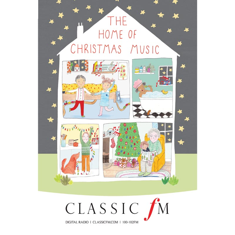 Printed advert for Classic FM