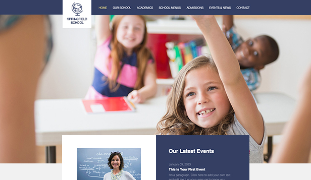 education web templates