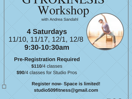 GYROKINESIS Workshops Announced!