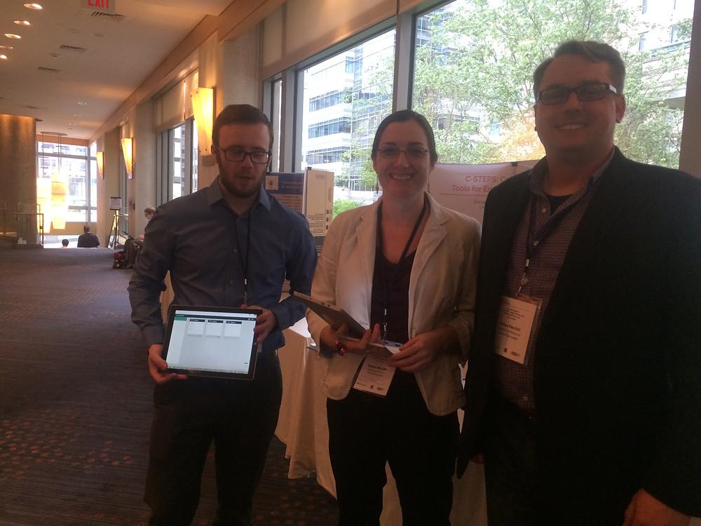 Emma Mercier, Greg Fabry and Joshua Peschel at Cyberlearning 2016