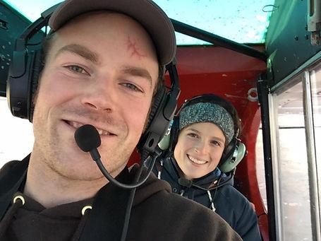 nick and kristen flying.jpg