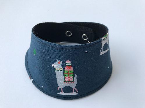 Noël - Foulard pour chats à motifs de Lamas de Noël
