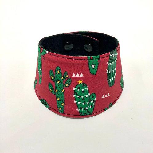 Noël - Foulard pour chats à motifs de cactus décoré de lumières
