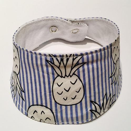 Foulard pour chats à motifs Ananas lignés