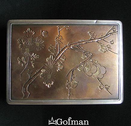 Шкатулка Серебро, медь, дерево