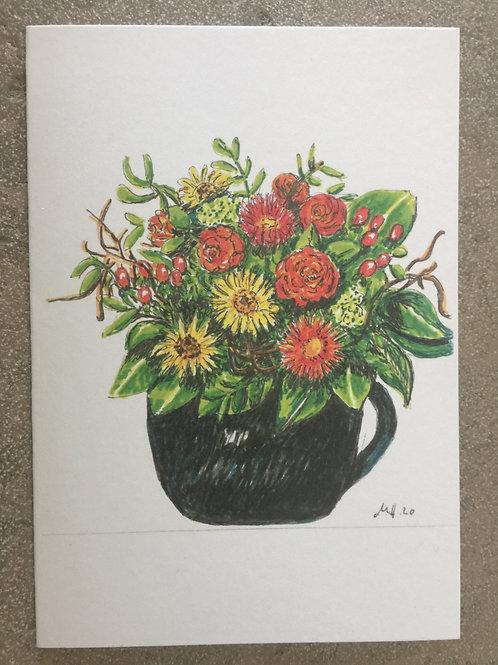 """Gutschein Motiv """"Vase mit Blumen"""""""