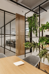 Biophilic Design, office design, creative interior design ideas, chairs, foliage plant