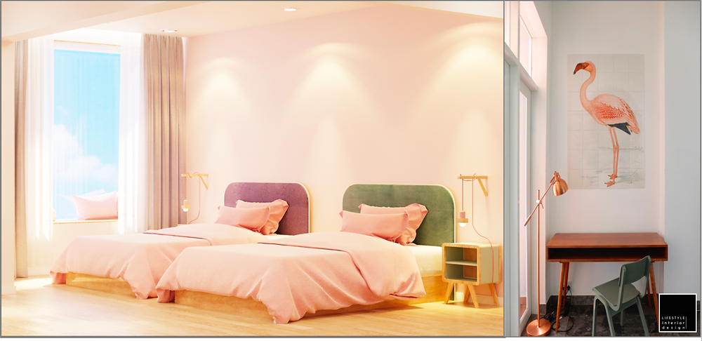Pastel Colors interior design - Vietnam Ho Chi Minh