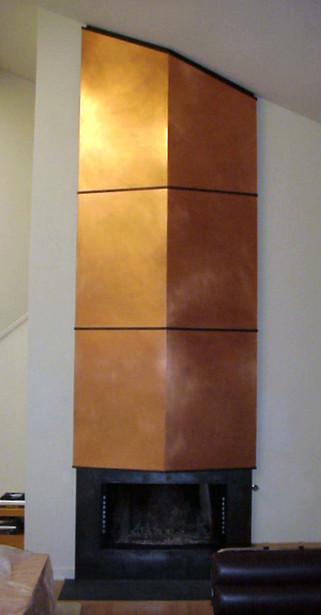 Copper/Steel Fireplace Surround