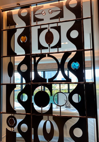 Salka Residence, Contemporary Grille Detail, Entry