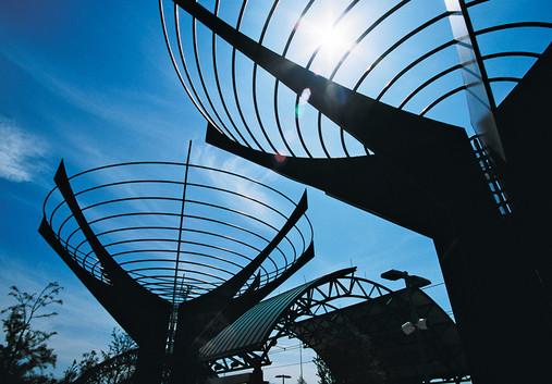 DART Galatyn Park Light Rail Sculpture