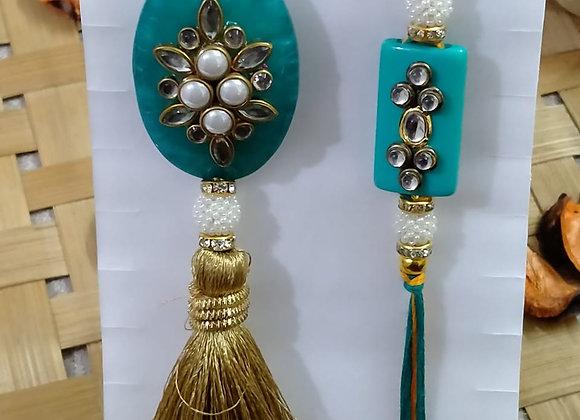 Today Fashion Bhaiya Bhabhi Rakhi Set  (2 Designer Rakhis for Bhaiya-Bhabhi)