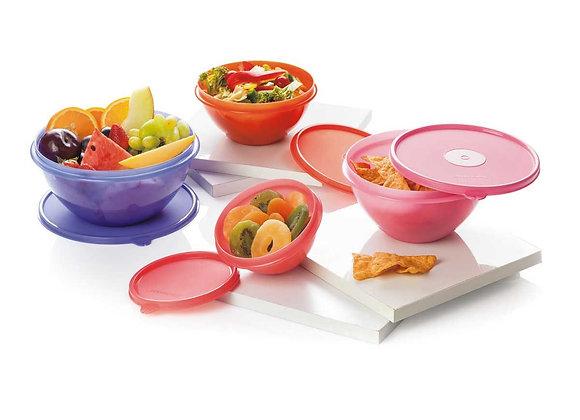 Wonder Bowl Storage Container Round, Set of 4 (1800ml+1200ml+800ml+400ml)