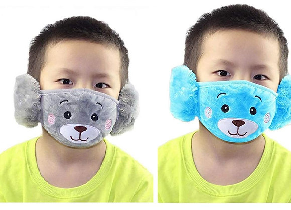 Today Fashion Kids Warm mask (Blue and Grey)