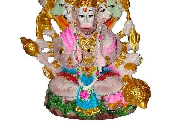 Today Fashion Panchmukhi Hanuman ji Polyresin Finish Statue (Height 3.5 Inch)