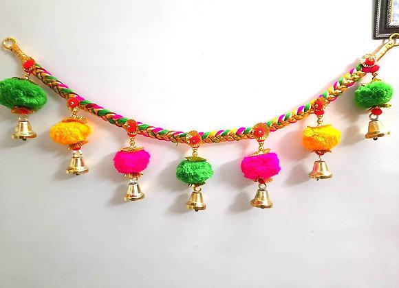Today Fashion Handmade Heavy pom pom Door Bandarwar/Golden Hanging Bells/Torans
